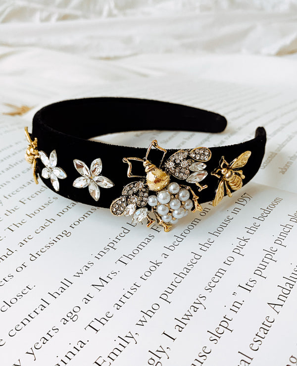 BEE EMBELLISHED HEADBAND - Lurelly