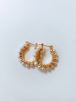 PEARLY HOOPS EARRINGS SALE Thumbnail - Lurelly