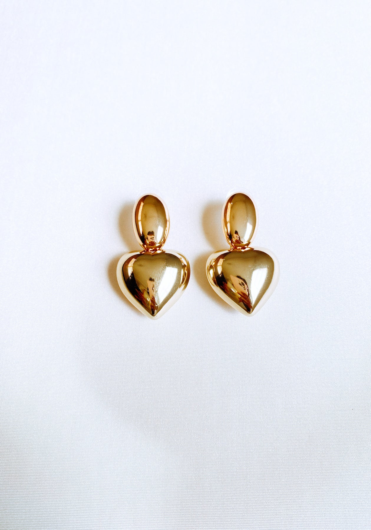 HEARTY GOLD EARRINGS - Lurelly