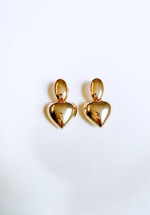HEARTY GOLD EARRINGS Thumbnail - Lurelly