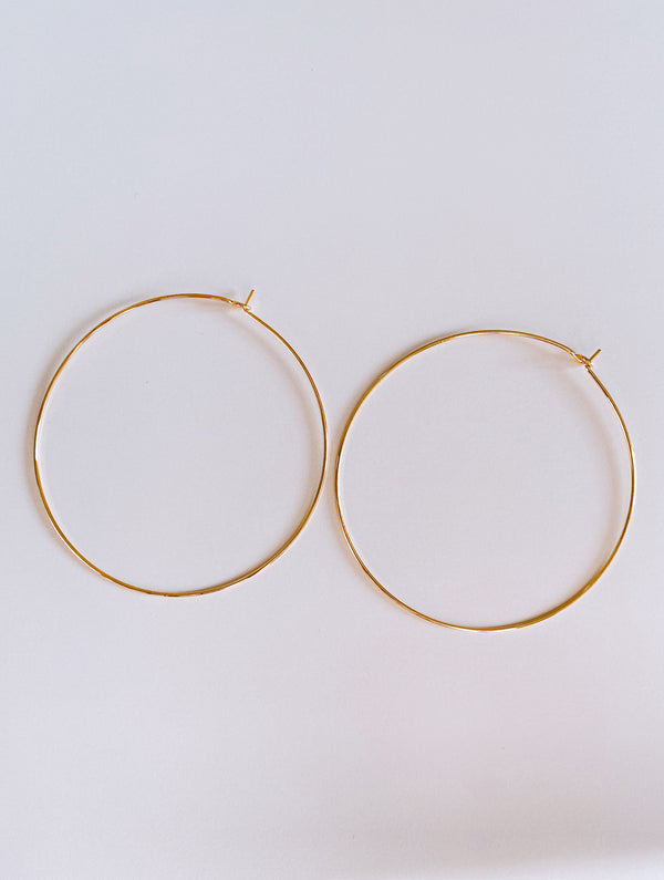 KIND GOLD HOOPS - Lurelly