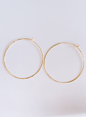KIND GOLD HOOPS Thumbnail - Lurelly