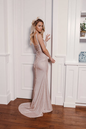 ROMEE GLITTER GOWN Thumbnail - Lurelly