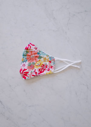 EXOTIC FLORAL COTTON MASK Thumbnail - Lurelly