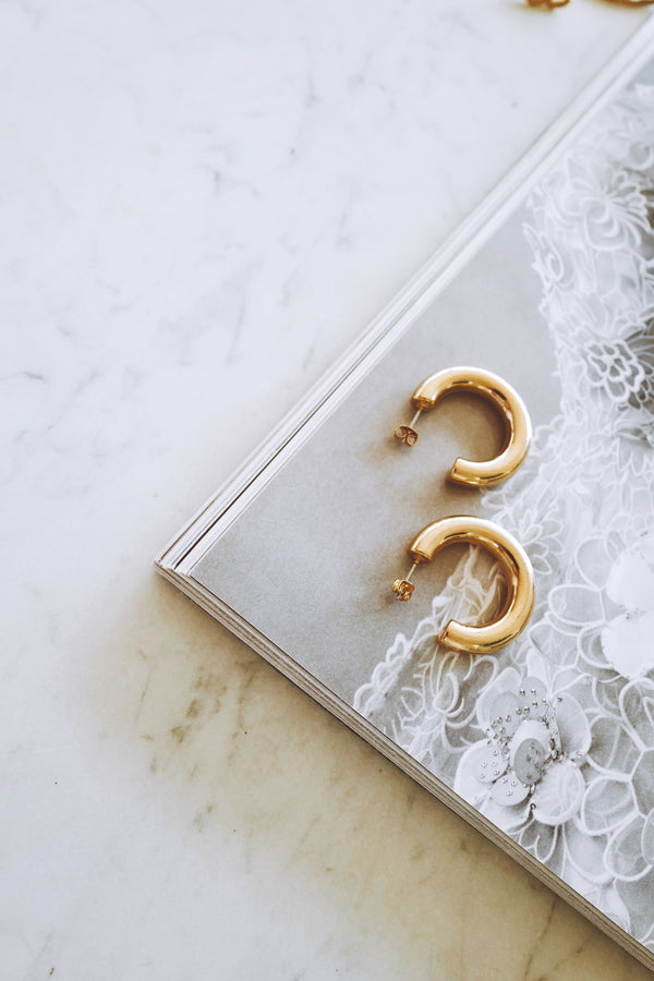 LITTLE GOLD HOOPS - Lurelly