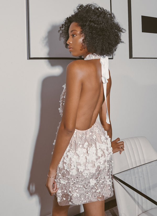 BARI HALTERED DRESS - Lurelly