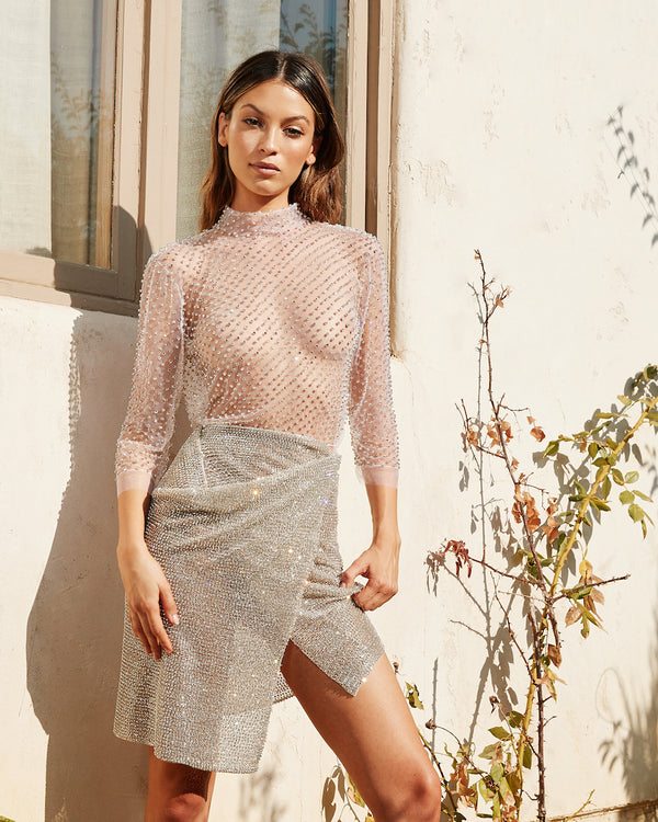 CHER JEWELED SKIRT - Lurelly