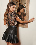 VALEN LEATHER SKIRT