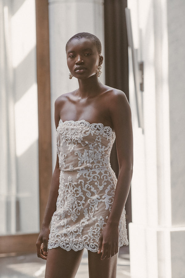 PANSY BEADED DRESS - Lurelly