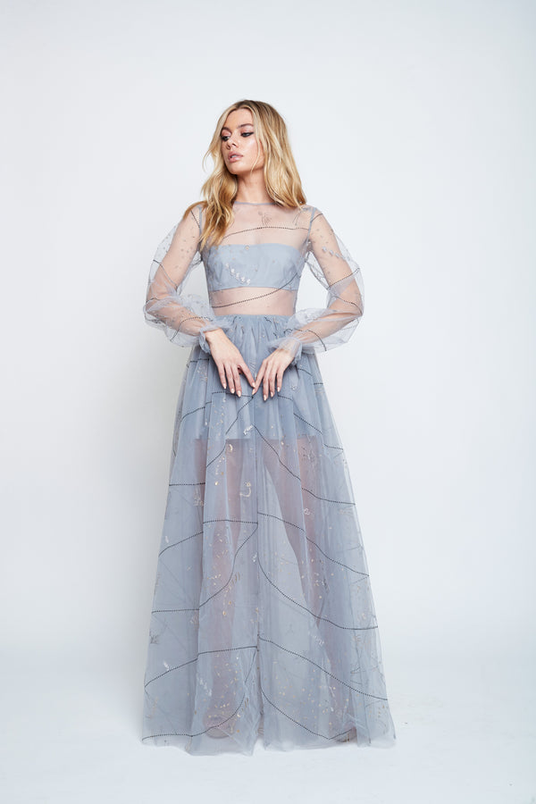 NEPTUNE'S TULLE DRESS (ASH) SALE - Lurelly