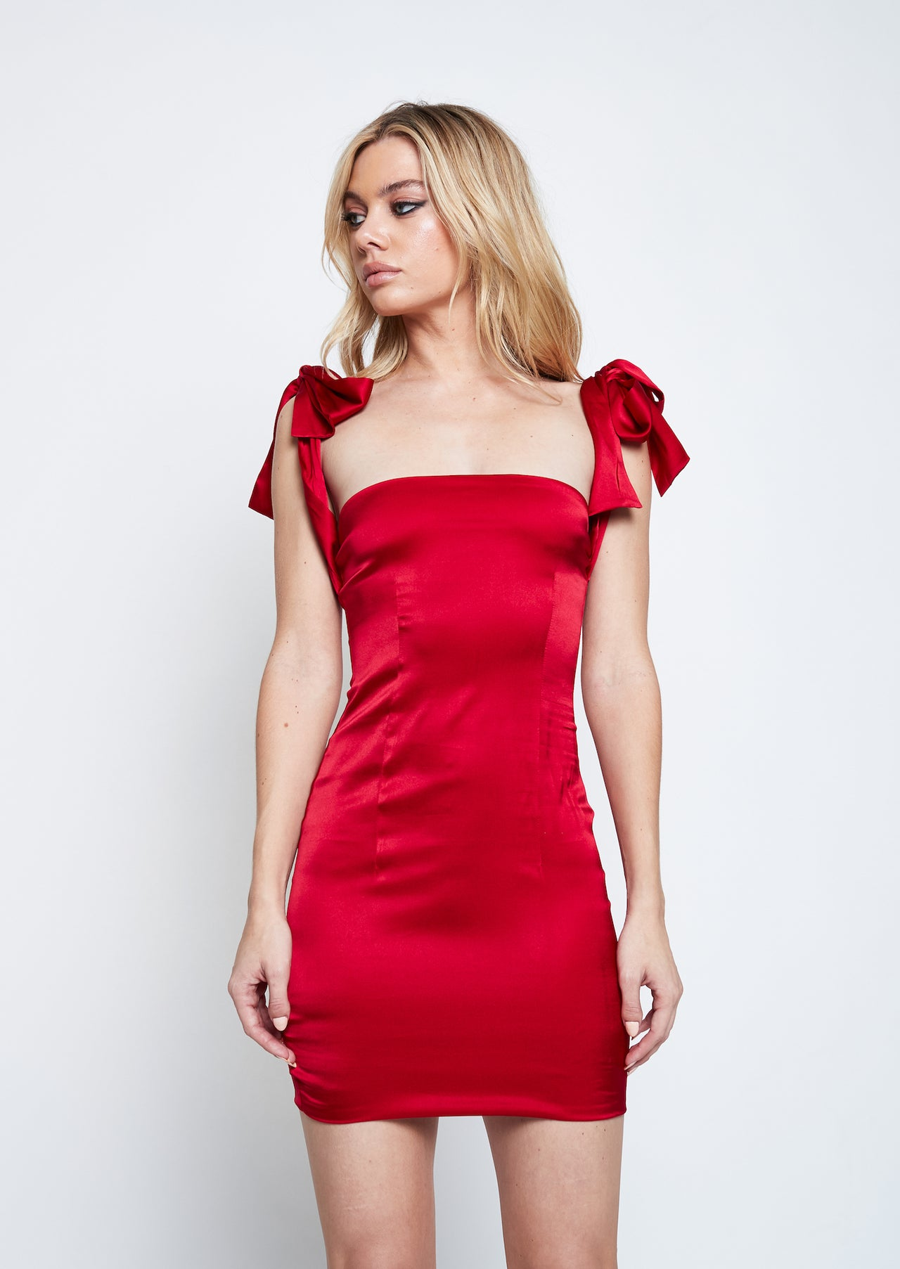 SILK BOWTIE DRESS - Lurelly