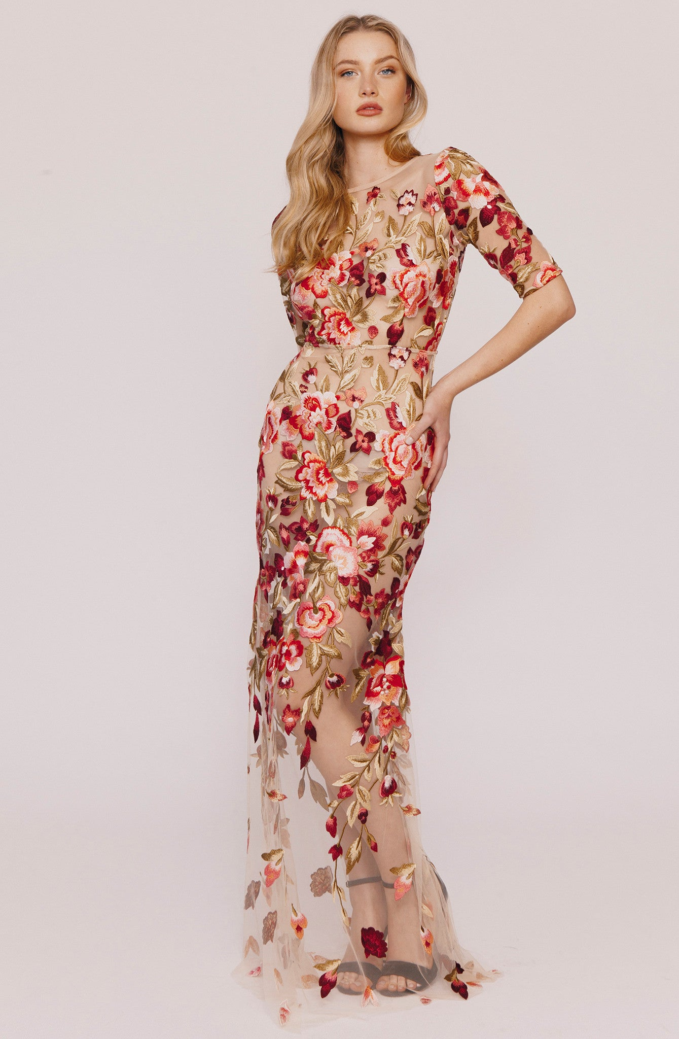 JULIET EMBROIDERED GOWN