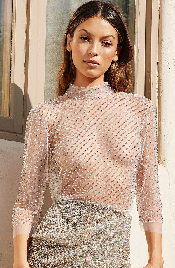 CRYSTAL NET TOP - Lurelly