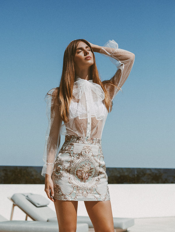MARA TULLE BLOUSE - Lurelly