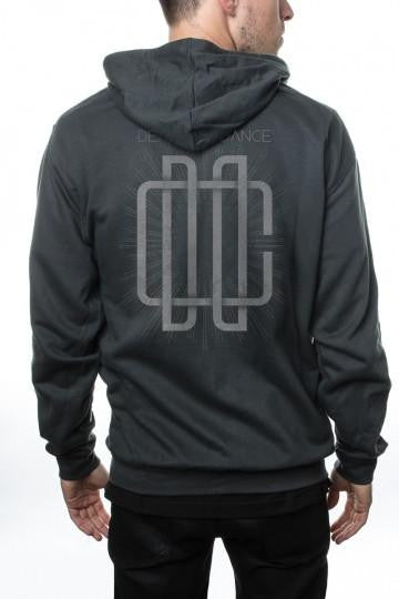 Dead Can Dance Monongram Zip Hoodie Grey
