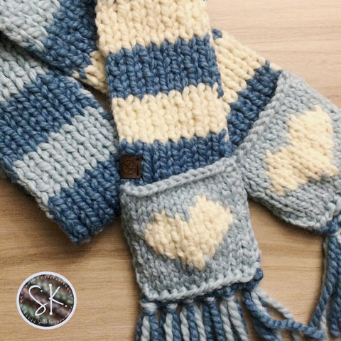 Bluey Colors Custom Order Kids Scarf with Pockets