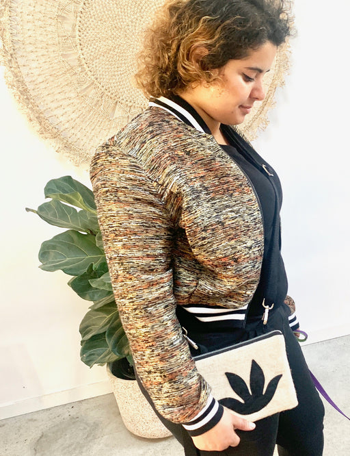 Botanical Mini Clutch/Convertible Shoulder Bag