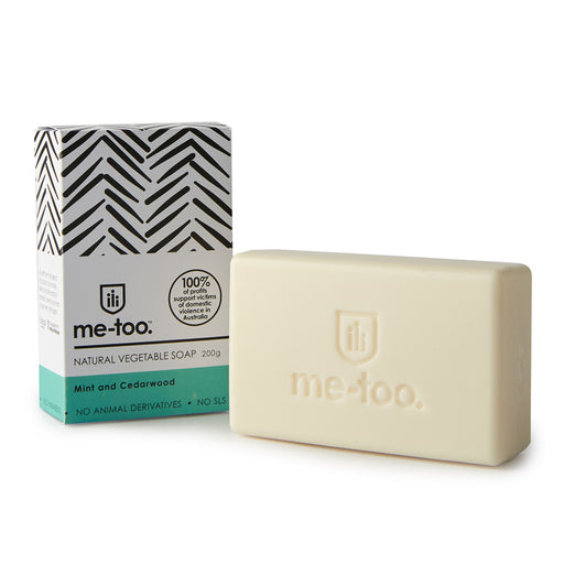 Me Too Natural Vegetable Soap Bar  - Mint and Cedarwood