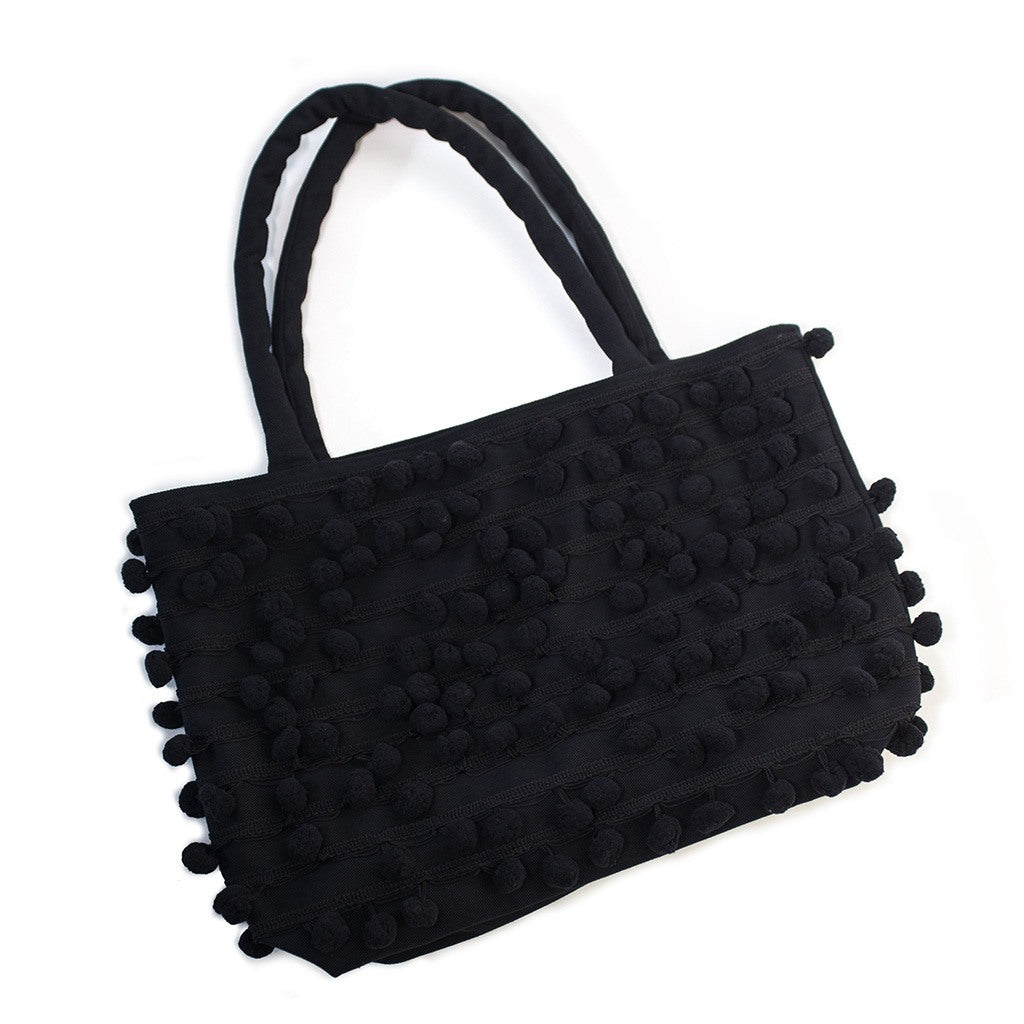 Night Pom Pom Tote