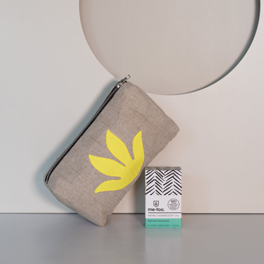 WEFT Botanical Makeup Bag + Me Too Soap Gift Set