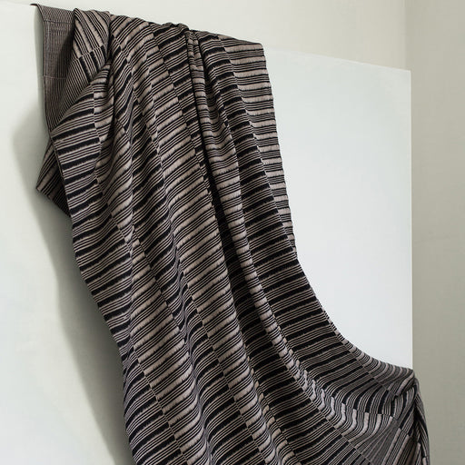 HAND-LOOMED MIE MEH SHAWL BLACK + SAND