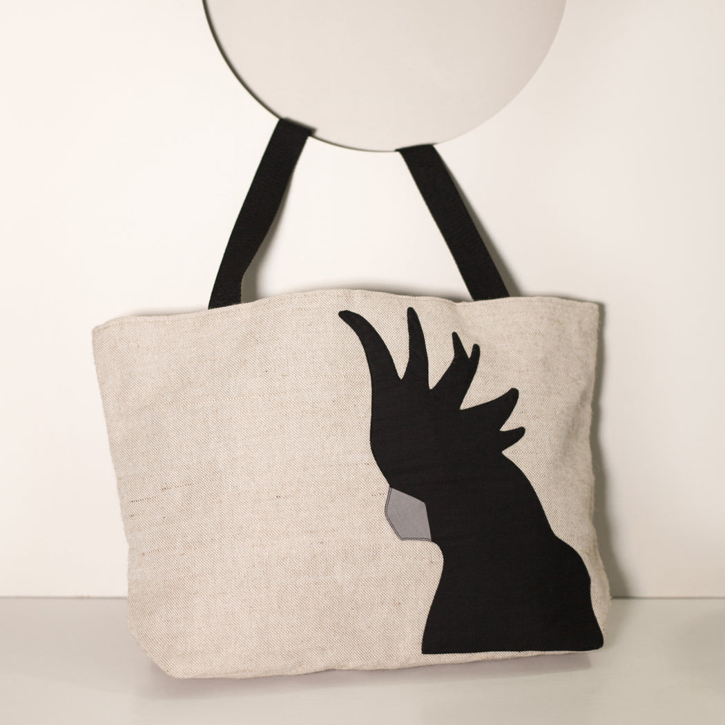 Black Cockatoo Tote -x1 available and PREORDER