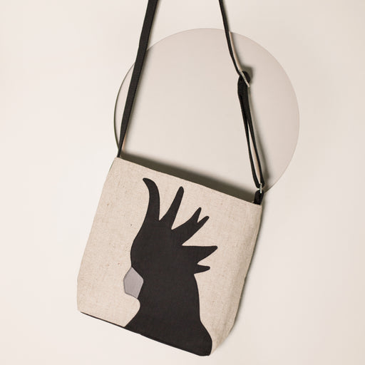 Black Cockatoo Shoulder Bag - PREORDER ONLY