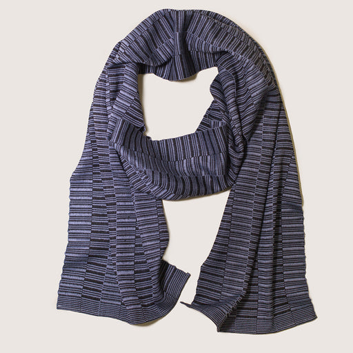 HAND-LOOMED MIE MEH SCARF BLACK + GREY