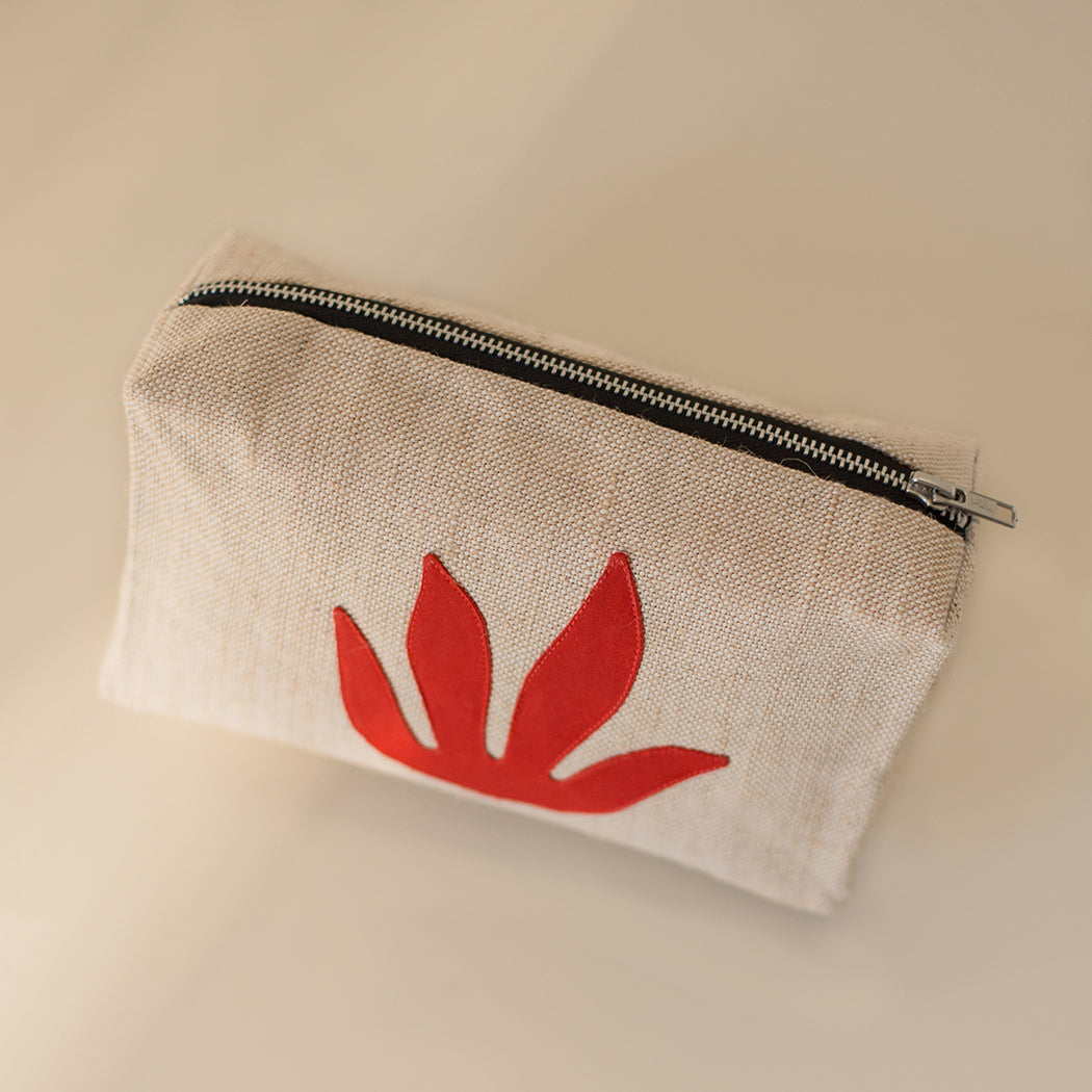 Red Botanical Makeup Bag x1 available now and PREORDER