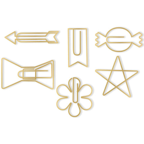 Gold Shapes Oh Goodie! Decorative Paper Clips 24/Pkg