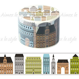 Gothic Buildings Japanese Washi Tape Aimez