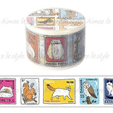 Animal Stamp Japanese Washi Tape Aimez