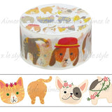 Cats and Dogs Japanese Washi Tape Aimez