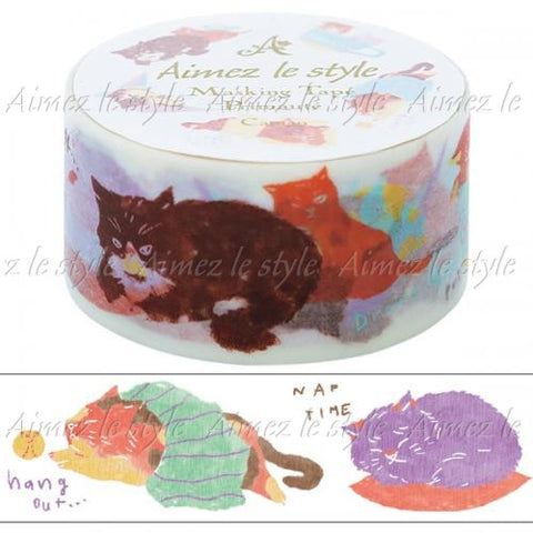 Cat Nap Japanese Washi Tape Aimez