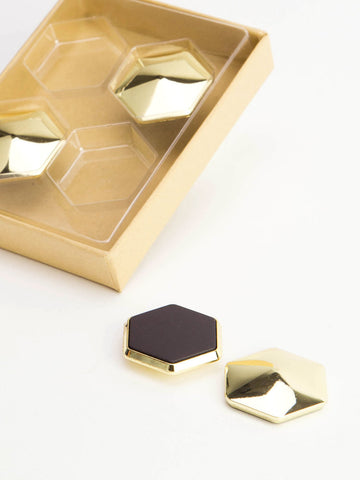 Gold Hexagon Magnets 4/Pk U Brands