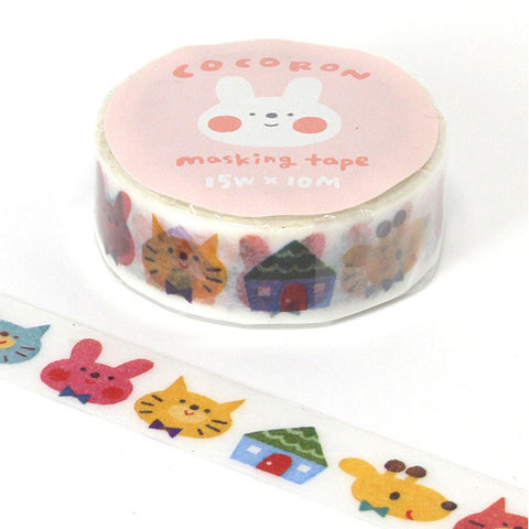 Animal Cocoron Masking Tape • Japanese Washi Tape
