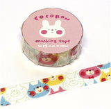 Cat Cocoron Masking Tape • Nekodarake Japanese Washi Tape