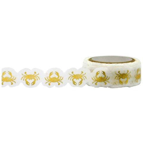 Gold Crabs Foil Die Cut Tape • Little B Decorative Foil Tape