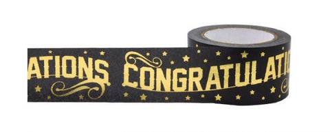 Congratulations Gold Tape • Little B Decorative Foil Tape
