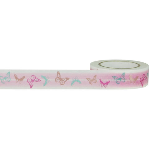 Butterflies with Rose Gold Little B Decorative Foil Tape 15mmX10m