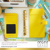Personal Binder Yellow Webster's Pages Color Crush
