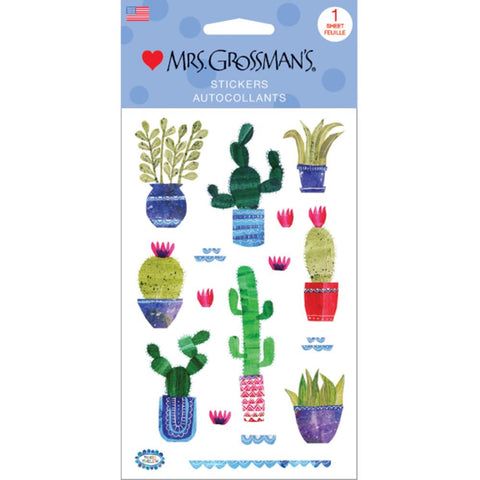 Cactus Collaged Cacti • Mrs. Grossman's Stickers