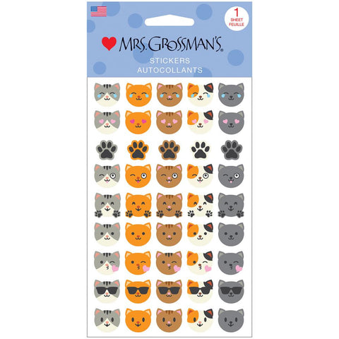 Cat Emotions Sticker • Mrs. Grossman's Stickers