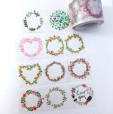 Flower Wreath Washi Tape
