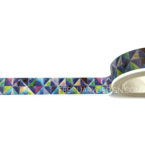 Geometric Triangle Diamond Washi Tape