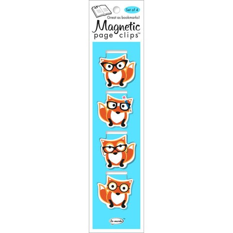 Foxes Magnetic Bookmarks 4/Pkg