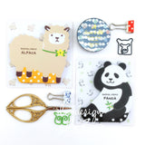 Animal Memo Pads Alpaca & Panda (50 sheets/pkg)