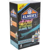 Elmer's Glues and Adhesives Slime Kit Glow Natural & Blue- Contains two 5oz bottles of glow in the dark glue in natural and blue, plus two bottles of 2.3oz magical liquid. This glue is safe, nontoxic, and washable. The no-run, no-drip formula is easy for kids to use.