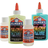 Elmer's Slime Kits offer an all-in-one slime making solution that includes vibrantly colored glues and Magical Liquid, Elmer's specially formulated slime activator.