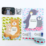 Animal Memo Pads Penguin & Bear (50 sheets/pkg) Parents and Child